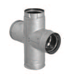 "Pellet Vent Pro 3"" - Double Clean-out Tee (Galvalume)"